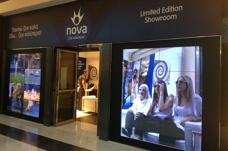 Τοποθέτηση κάμερας υπερυψηλής ανάλυσης στο Nova Show Room